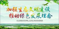 加强生态文明建设推动绿色发展理念海报