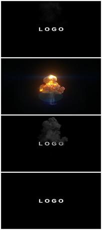 震撼烟雾爆炸带出logo视频模板