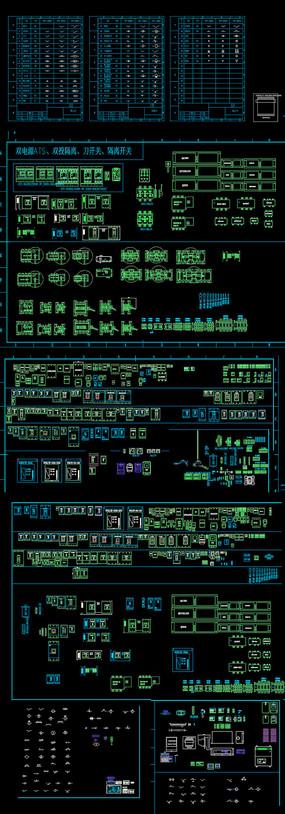 电气元件图块CAD