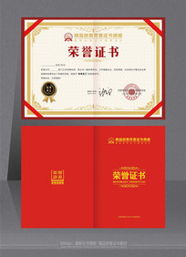 简约优秀荣誉证书整套模板