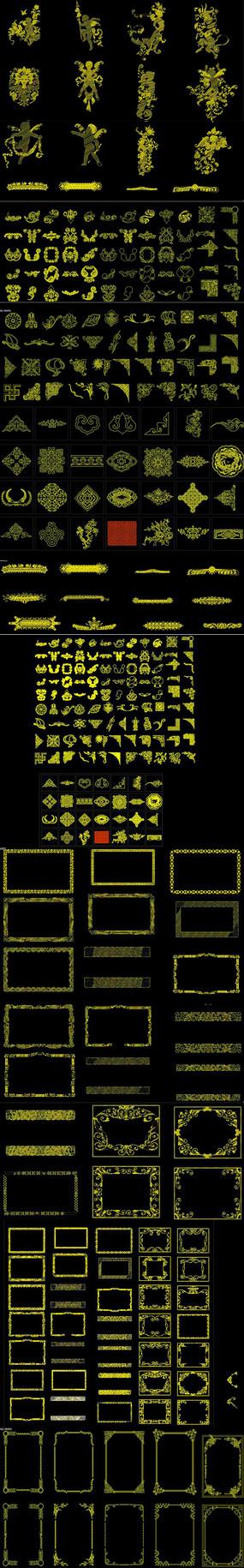 金色花纹CAD图纸