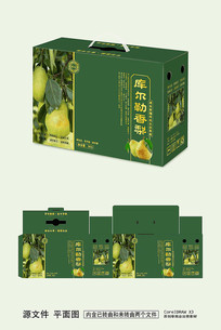 绿色库尔勒梨包装设计