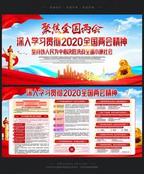 清新2020两会学习展板