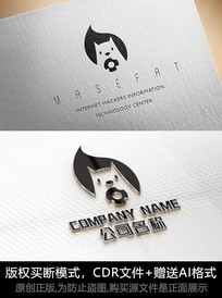 松鼠logo标志公司商标设计