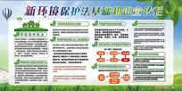 新环境保护法基础知识宣传栏展板