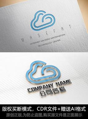 云朵logo标志设计