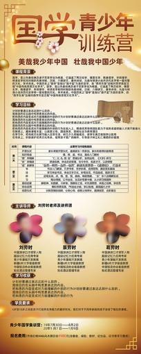 中国风青少年国学易拉宝