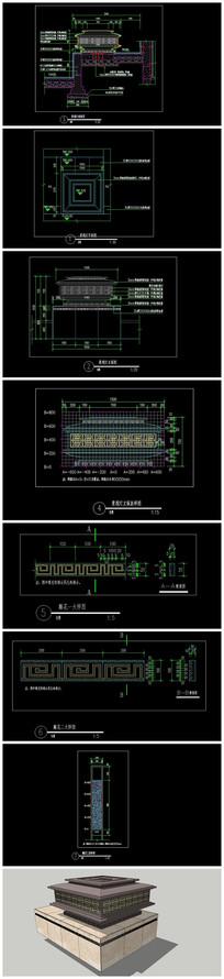 精品景观灯CAD施工图(含SU)