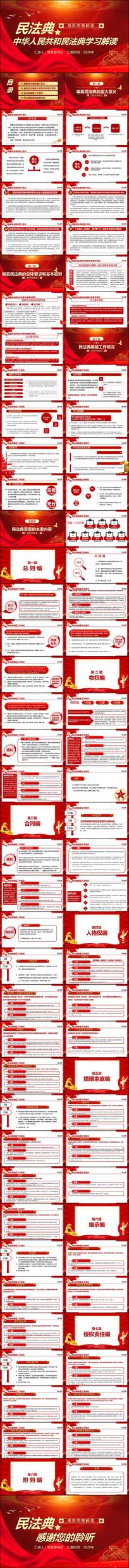 民法典解读党政党建党委党课法律ppt