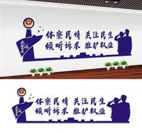 社区公安局派出所标语文化墙