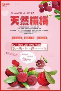 杨梅成熟宣传海报设计