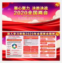 2020两会政府工作报告宣传展板