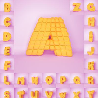 26方块积木英文字母