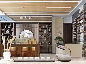 茶酒展厅3D模型