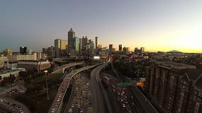 城市立交桥车辆行驶交通视频素材