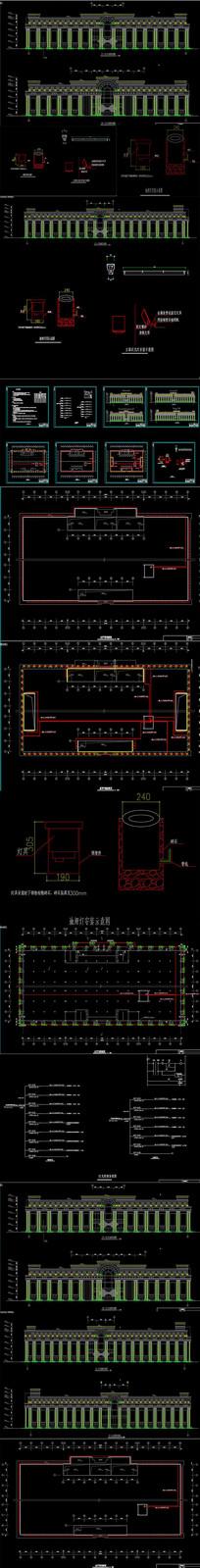 大楼亮化照明CAD图纸