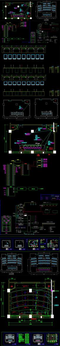 多媒体会议系统CAD图纸