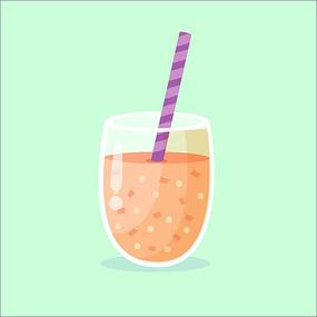 果汁甜品矢量图形