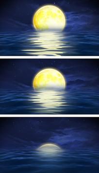 海上升明月中秋晚会舞台视频背景素材