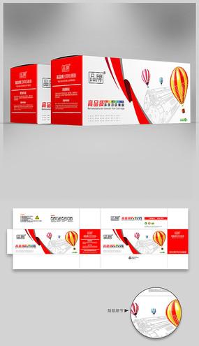 红色打印机硒鼓品牌包装设计