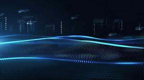 科技动感波浪数字背景视频素材