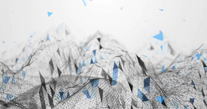 科技几何线条背景视频素材