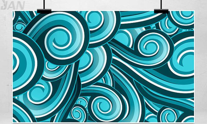蓝色插画纹理背景