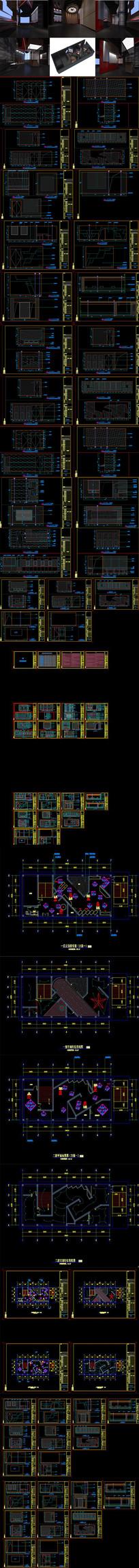 历史展厅展馆CAD施工图 效果图
