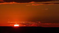 清晨地平线日出阳光视频素材