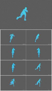 人物奔跑特效视频素材
