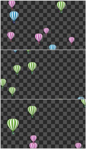 热气球升空动画视频素材