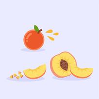 矢量扁平水果手绘插画