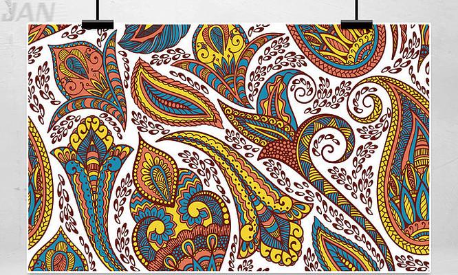 手绘装饰花纹背景