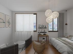 现代卧室3Dmax模型