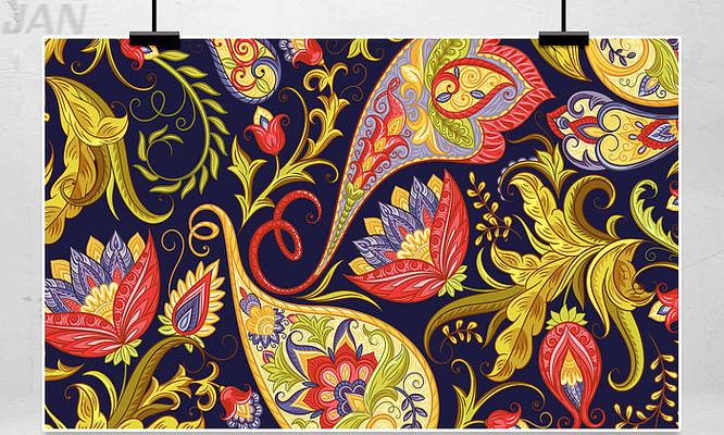 中国风手绘花纹