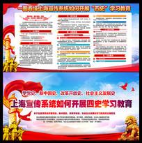 上海宣传系统开展四史学习教育展板