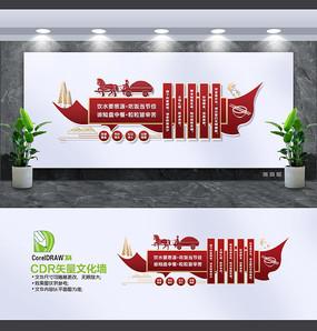 中国风食堂文化墙设计