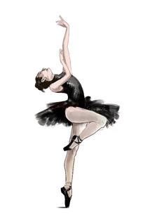 芭蕾舞演员手绘插画