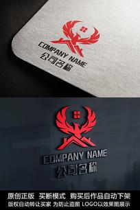 房地产logo标志凤凰商标设计