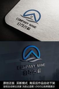 房子logo标志简约商标设计
