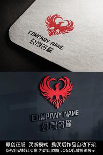 凤凰图形logo标志商标设计