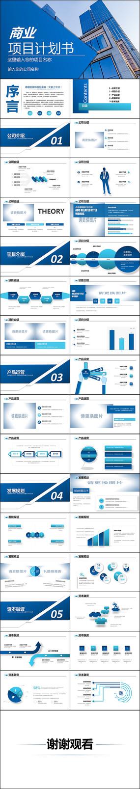 高端企业创业项目商业计划书PPT
