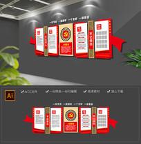 红色党建党员入党誓词权利义务活动室文化墙