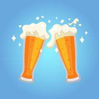 矢量手绘啤酒元素