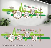 宿舍文明寝室文化墙设计