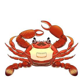 原创浮世绘风格螃蟹