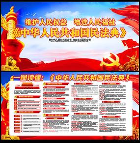 2020中华人民共和国民法典解读党建展板