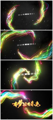 4k唯美粒子旋转汇聚logo视频模板