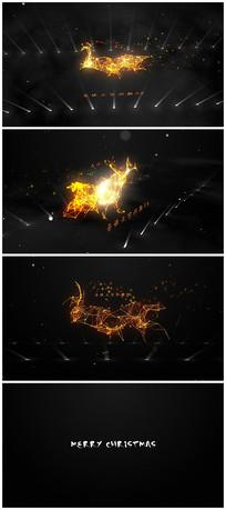 唯美圣诞节粒子片头视频模板