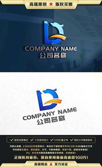 D字母龙标志龙LOGO设计